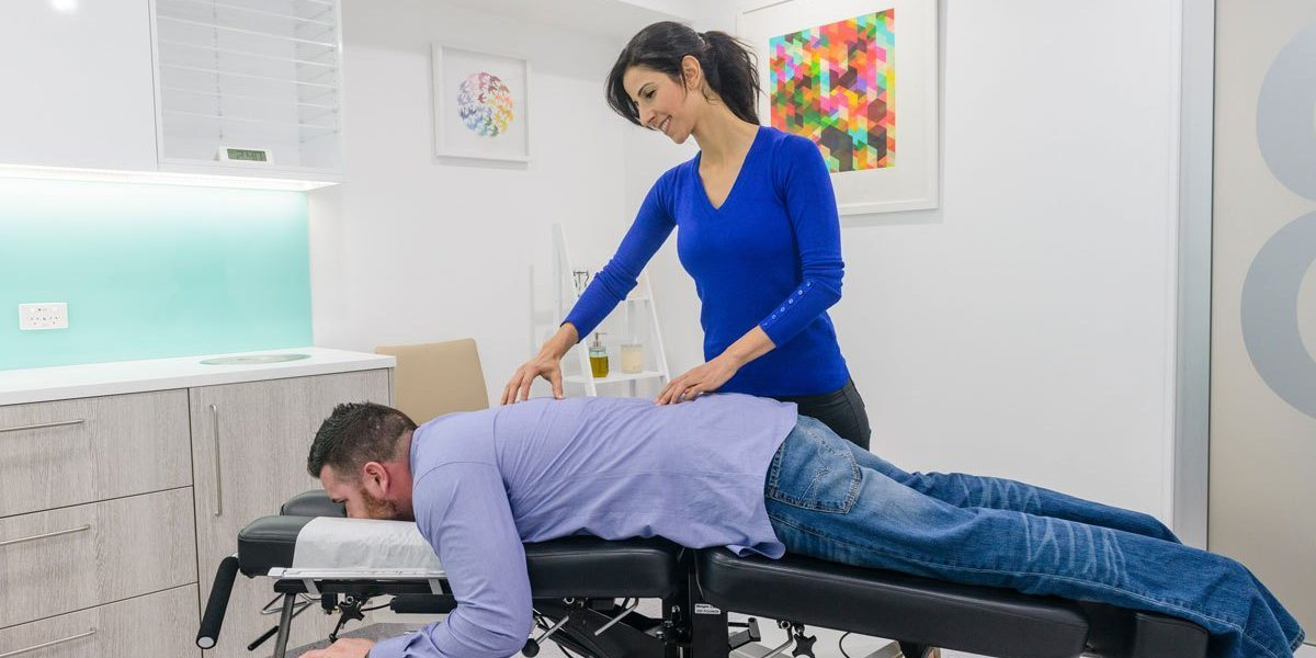 chirorelief in Enmore - linda shiyab treating a patient